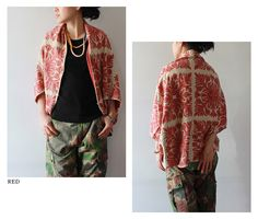 camo pants + quilt woven origami poncho