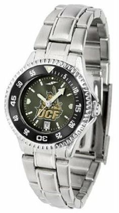 Central Florida Golden Knights UCF NCAA Womens Steel Anochrome Watch by SunTime. $86.95. Showcase the hottest design in watches today! The functional rotating bezel is color-coordinated to compliment your favorite team logo. The Competitor Steel utilizes an attractive and secure stainless steel band.The AnoChrome dial option increases the visual impact of any watch with a stunning radial reflection similar to that of the underside of a CD. Perceived value is increased...