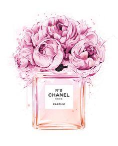 Imagem de chanel, flowers, and pink