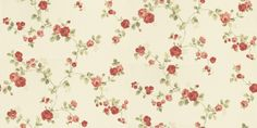Rose Trail (68732) - Albany Wallpapers - A small scale, delicate all over floral trail pattern featuring a small rose motif. Shown here in red and green on cream. Other colourways are available. Please request a sample for a true colour match. Paste-the-wall product.