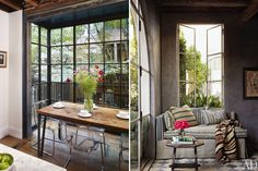 more industrial windows - I now have all new home cravings. damn you, interweb! Steel Windows, Steel Doors, Windows And Doors, Industrial Windows, White Industrial, Clear Chairs, Interior Decorating, Interior Design, Decorating Ideas
