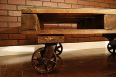 Pallet Coffee Table For Living Room With Wheels | 101 Pallets