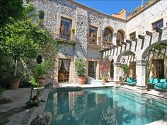 San Miguel de Allende house rental - A solar heated pool with fountains and solar heated unlike anything else in SMA