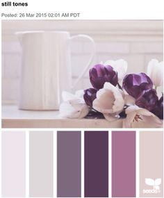 still tones color palettes from Design Seeds Colour Pallette, Colour Schemes, Color Combos, Color Patterns, Purple Palette, Purple Paint Colors, Purple Color Palettes, Design Seeds, Paleta Pantone