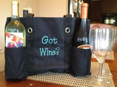 Carry your wine in style with this Zip Top Utility Tote
