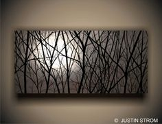 """MOONLIGHT"" READY TO HANG LARGE GICLEE PRINT ON CANVAS GALLERY WRAPPED PAINTING"