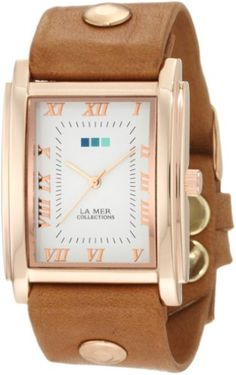 Kate spade leather watch accessories pinterest la mer collections womens lmhoz5002 oversize square collection sand oversize square watch by la mer collections gumiabroncs Choice Image