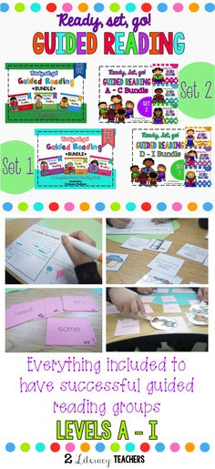 EVERYTHING you need to run successful guided reading groups. Sight words, phonics, vocabulary, leveled passages, assessments, games and activities! Save money and buy the bundles. For levels A-i.