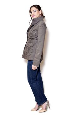 jean jacket outfits fall casual denim  US$54.95