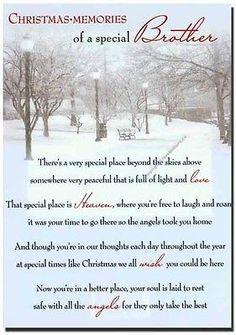 Grave Card / Christmas - Brother - FREE Holder-CMX08 Memorials & Funerals in Home, Furniture & DIY, Home, Furniture & DIY | eBay