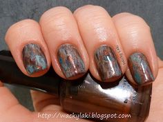 Rust Manicure using Barielle Unraveled Rust