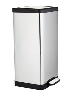 Haven Home Collection Tidy Square 15L Pedal Bin, Stainless Steel product photo