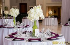 Cocktails Catering Table Settings and Linen at Orlando Museum of Art - Orlando Florida Wedding