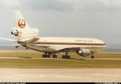 Auckland Airport, JAL DC-10-40. Image via google airliners.net copyright owner