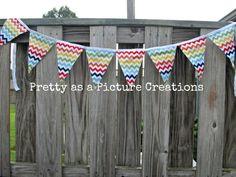 Make this colorful Chevron banner