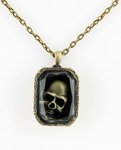 Vintage Gold Skull Necklace #SheInside