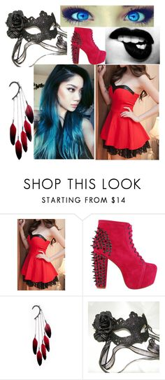 """""""She's a killer"""" by themadonexd ❤ liked on Polyvore featuring Jeffrey Campbell, Anni Jürgenson and Masquerade"""