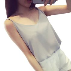 ChiffonWomen 2017  Summer Sleeveless T Shirt Sexy V-neck Cami Loose Casual Female Tops   Vest Ladies Clothing #Affiliate
