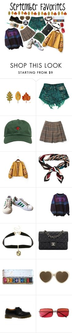 """""""• September favorites 2016 •"""" by flowersoflife ❤ liked on Polyvore featuring Streets Ahead, The Hundreds, Club Monaco, H&M, adidas, Dale of Norway, Warner Bros., Chanel, RETROSPECS and Dr. Martens"""