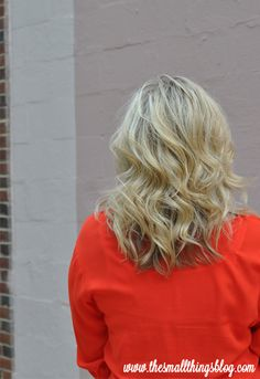 The Small Things Blog: Lightly Curled Hair Tutorial
