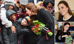 That's not Elsa! Pregnant Kate bonds with children in Harlem who had been expecting a princess from Frozen... then goes to grown up lunch with diplomats