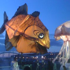 A giant fish at a Lakes Alive event in Whitehaven in 2010.