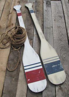 Large wooden oars