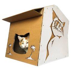 Cool Summer Cardboard Cat House,Unique Cat Furniture,Helloween ...