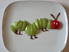 A Very Hungry Caterpillar fruit snack