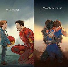 Spiderman and Iron Man Marvel Avengers Humor, Marvel Jokes, Marvel Comics, Hero Marvel, Marvel Fan Art, Funny Marvel Memes, The Avengers, Funny Memes, Spiderman Marvel