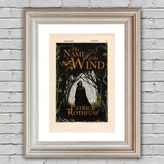 The Name of the Wind Book Cover Print on an upcycled vintage encyclopedia page (unframed) - decor, Patrick Rothfuss, Kingkiller Chronicle