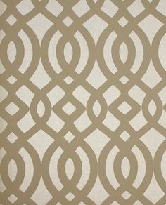 Du Barry Wallpaper Ogee trellis wallpaper in taupe and beige mica background
