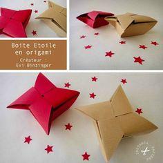 Vidéo de la boite étoile en origami - how to