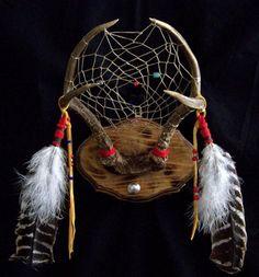 Native American Deer Antler Dreamcatcher