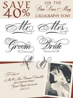 40% off a Gorgeous Calligraphy Font + Holiday Notecard Printables