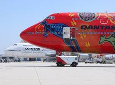 Qantas Wunala Dreaming aborigenese painting @ Speedbird HD /Facebook