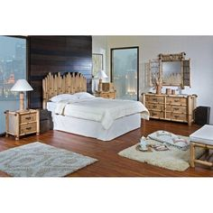 Hospitality Rattan Havana 4 Piece Bedroom Set   Natural Bamboo $1624.00