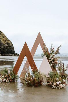Wedding Backdrop Design, Ceremony Backdrop, Ceremony Decorations, Wedding Stage, Event Decor, Event Design, Wedding Designs, Backdrops, Oregon Coast