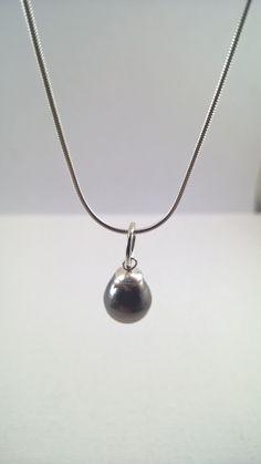Genuine Tahitian Pearl, Black Pearl Pendant, Real Tahitian Pearl necklace, Tahitian Pearl Necklace, Tahitian Pearl, Real Tahitian Pearl,