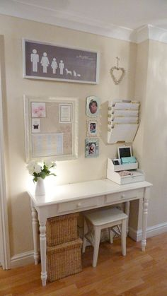 Trendy Home Office Furniture Ideas Command Centers Home Office Organization, Office Decor, Office Ideas, Organization Ideas, Office Table, Office Storage, Organization Station, Office Setup, Family Organization Wall