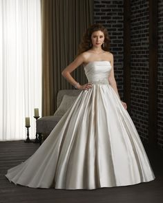 This is the classic Princess wedding gown ball gown silhouette.