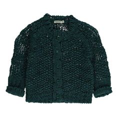 Chunky boucle yarn cardigan. Five buttons at front. 70% acrylic 30% wool Designed in the Netherlands