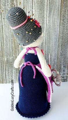 Crafter Granny Organizer Knitting Paterns, Crochet Dolls Free Patterns, Amigurumi Patterns, Crochet Toys, Free Crochet, Crochet Granny, Crochet Shawl, Patons Grace Yarn, Granny Dolls