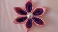 kanzashi flower - YouTube