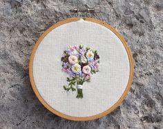 Something Blue Handmade Embroidery Hoop Art. 4 Inch by erinmcmoms