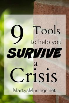 Marty's Musings shares her personal story and 9 tools to survive a crisis. From taking care of yourself to knowing when to ask for help, there is hope!