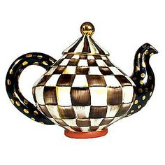 MacKenzie Childs  Courtly Check Teapot - how beautiful