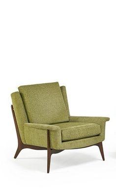 Vladimir Kagan; Walnut Lounge Chair, 1950s.