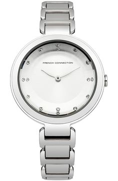 French Connection Ladies River Steel Bracelet Watch >>> New and awesome product awaits you, Read it now Ladies Bracelet Watch, Name Necklace, French Connection, Steel, Lady, Bracelets, Silver, Accessories, Designer Watches