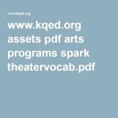 www.kqed.org assets pdf arts programs spark theatervocab.pdf